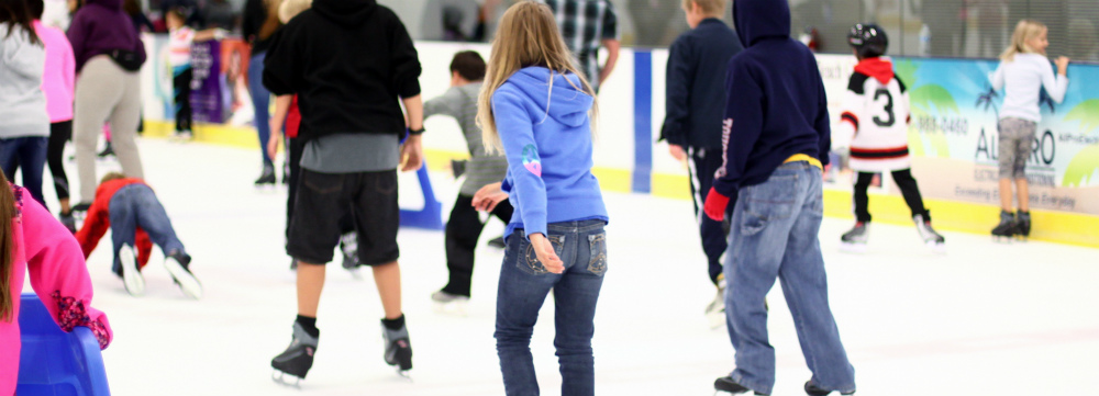 Willowbrook Ice Arena open skate people skating